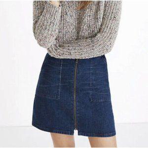 Madewell Denim Utility Zip Skirt, 28